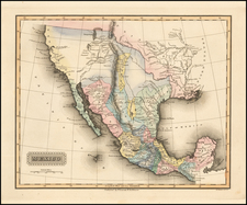 Texas, Southwest, Rocky Mountains, Mexico and California Map By Fielding Lucas Jr.