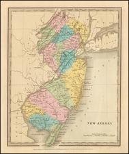 New Jersey Map By David Hugh Burr