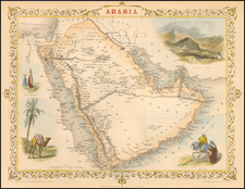 Middle East Map By John Tallis