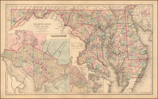 Mid-Atlantic Map By Frank A. Gray