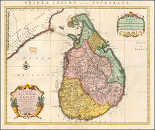 India Map By Johannes Covens  &  Cornelis Mortier