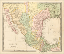 Texas, Southwest and Mexico Map By Hamilton, Adams & Co.