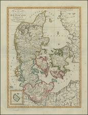 Denmark Map By Weimar Geographische Institut