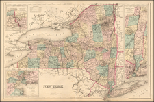 New York State Map By O.W. Gray