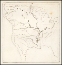 United States, South, Midwest, Plains, Missouri and Rocky Mountains Map By Theodore Sedgwick Fay / John B. Pradt