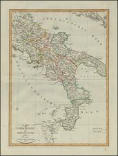 Southern Italy Map By Weimar Geographische Institut