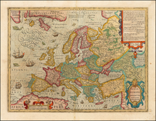 Europe Map By Jodocus Hondius