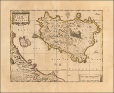 Southern Italy and European Islands Map By Peter Schenk / Gerard Valk
