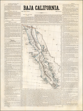 Baja California Map By Antonio Garcia y Cubas