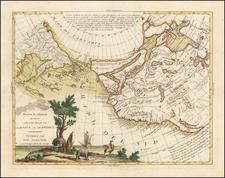 Polar Maps, Pacific Northwest, Alaska, North America, Russia in Asia and Canada Map By Antonio Zatta