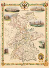 Germany Map By John Tallis