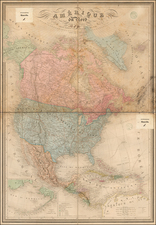 North America Map By Adolphe Hippolyte Dufour