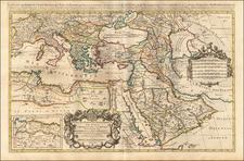 Turkey, Mediterranean, Arabian Peninsula and Turkey & Asia Minor Map By Alexis-Hubert Jaillot
