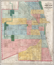 Chicago Map By Rufus Blanchard