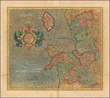British Counties Map By  Gerard Mercator