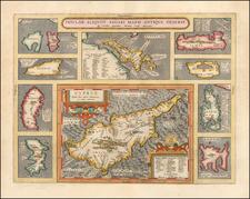 Insular Aliquot Aegaei Maris Antiqua Descrip . . . (Large Cyprus Inset) By Abraham Ortelius