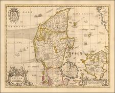 Denmark Map By Peter Schenk  &  Gerard Valk