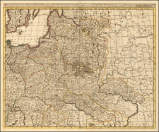 Poland and Ukraine Map By Gerard & Leonard Valk