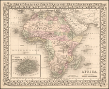 Africa Map By Samuel Augustus Mitchell Jr.