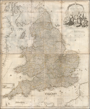 England Map By Robert Sayer