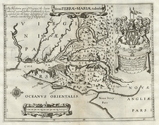 Mid-Atlantic Map By John Ogilby