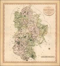British Counties Map By John Cary