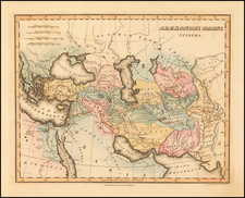 Turkey, Middle East, Persia and Turkey & Asia Minor Map By Fielding Lucas Jr.