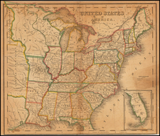United States and Iowa Map By Henry Schenk Tanner