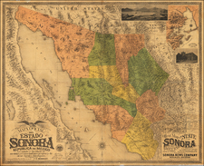 Southwest, Arizona, Mexico and Baja California Map By Charles E. Herbert
