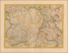 Netherlands and Belgium Map By  Gerard Mercator