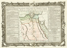 Africa and North Africa Map By Buy de Mornas