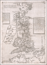 British Isles Map By Ferrando Bertelli