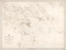 Singapore and Indonesia Map By British Admiralty