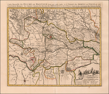 Northern Italy Map By Pierre Mortier