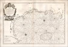 France Map By Joseph Nicholas De  L'Isle