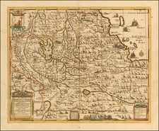 Egypt and East Africa Map By Peter Schenk  &  Gerard Valk