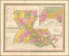 Louisiana and New Orleans Map By Henry Schenk Tanner