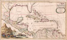 Florida, South, Texas, Caribbean and Central America Map By Pieter Mortier