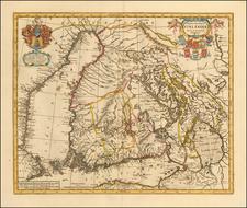 Finland Map By Peter Schenk  &  Gerard Valk