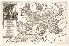Europe Map By Heinrich Scherer