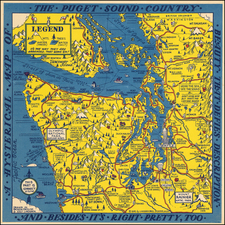 Washington Map By Lindgren Brothers