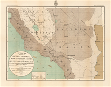 Nevada and California Map By Peters, N.