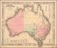 Australia Map By Benjamin P Ward  &  Alvin Jewett Johnson