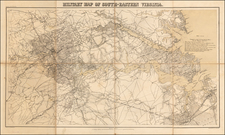 Virginia and Civil War Map By Adolph Lindenkohl
