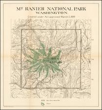 Washington Map By Andrew B. Graham