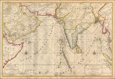 Indian Ocean, India and Middle East Map By Pieter Mortier