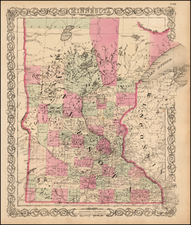 Minnesota Map By G.W.  & C.B. Colton