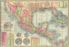 Florida, South, Texas, Southwest, Mexico, Caribbean & Central America, Caribbean and Central America Map By Gaylord Watson