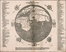 World and Eastern Hemisphere Map By Anonymous / Pomponius Mela