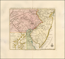 Mid-Atlantic, New Jersey, Pennsylvania, Maryland and Delaware Map By Covens & Mortier / Bernard Romans